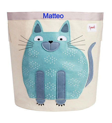 Personalized Cat storage bin