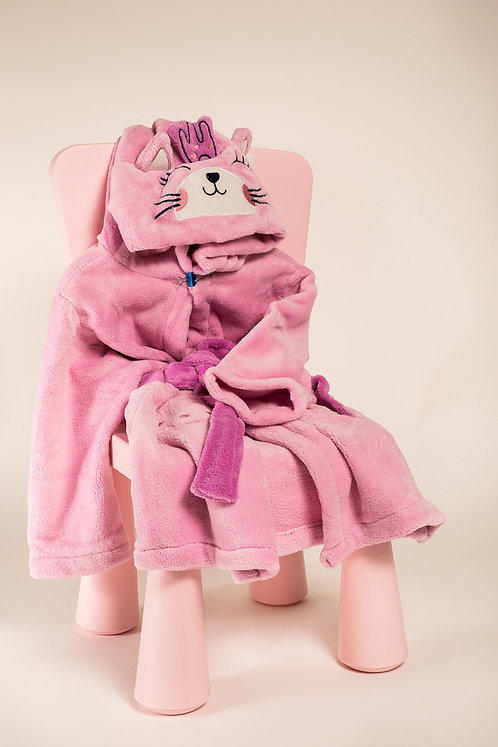Personalized Pink Micro Fleece bathrobe