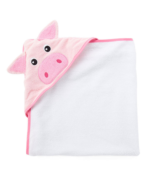 Personalized hooded towel-Pig