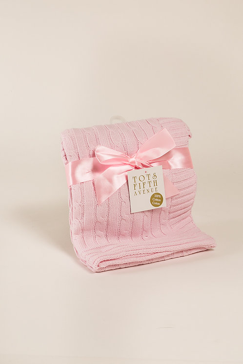 Tots Fifth Ave pink baby blanket