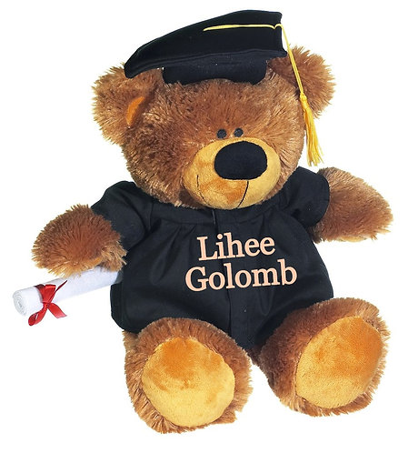 "12"" Personalized Grad Bear"