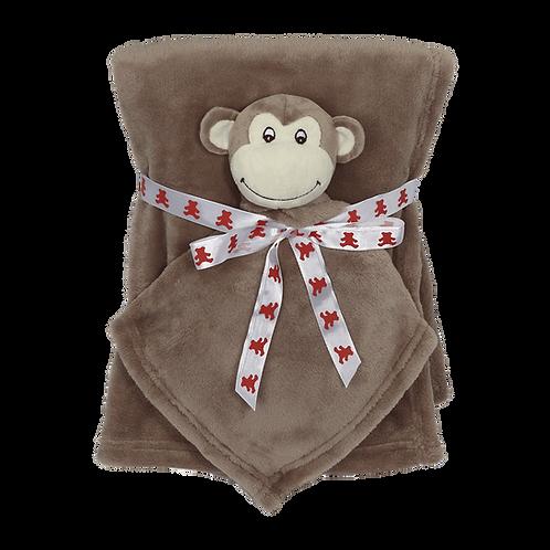 Monkey blanket and blankey gift set
