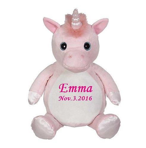 """16"""" Personalized pink unicorn"""