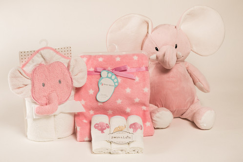 I love my elephant baby girl gift set kidspot personalizd the parents will use it for a long time this personalized adorable set will make a great babies gift with their name negle Image collections