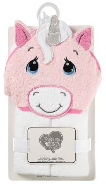 Personalized pink baby hooded towel