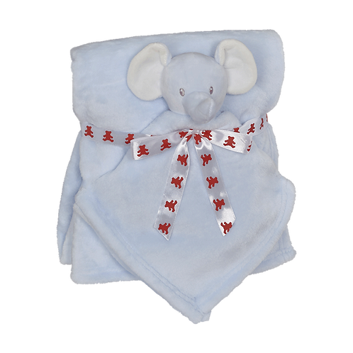 Blue Elephant blanket and blankey gift set