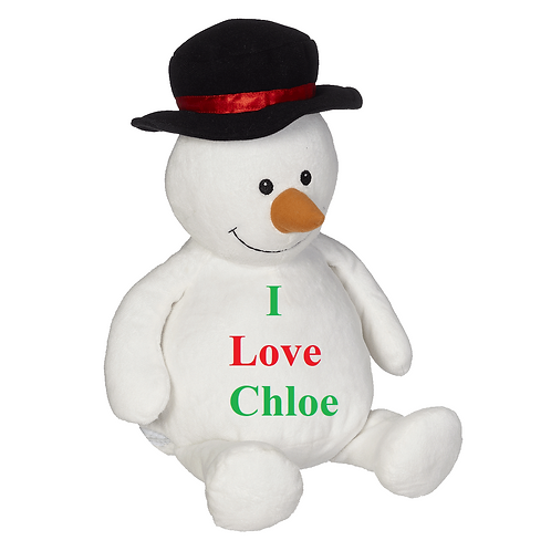 "16"" Personalized Snowman"