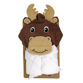 Personalized hooded towel- Moose