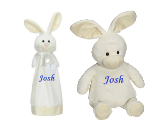 Personalized Plush toy and blanky set
