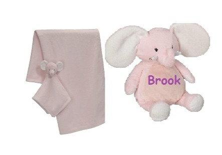 Pink elephant gift set