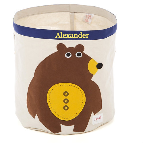 Personalized Bear storage bin