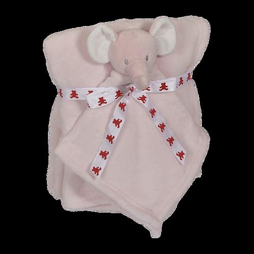 Pink Elephant blanket and blankey gift set