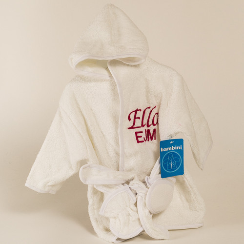 Kidspot personalizd gifts for babies and kids canada personalized baby bathrobe negle Choice Image