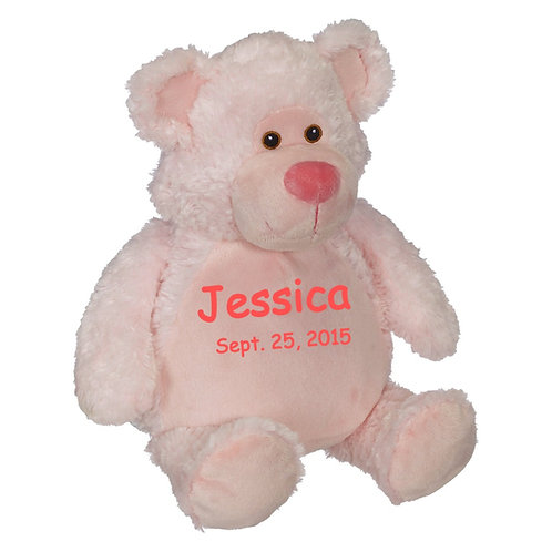 """16"""" Personalized pink Teddy Bear"""