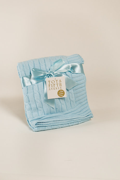 Tots Fifth Ave blue baby blanket