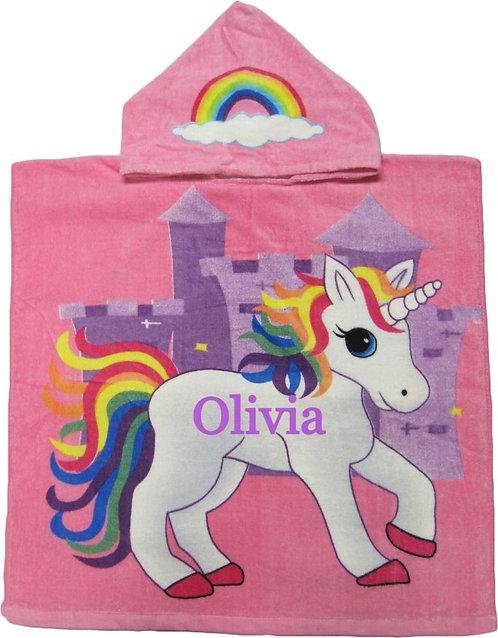 Personalized Unicorn poncho towel