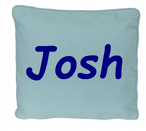 Personalized Blue Pillow