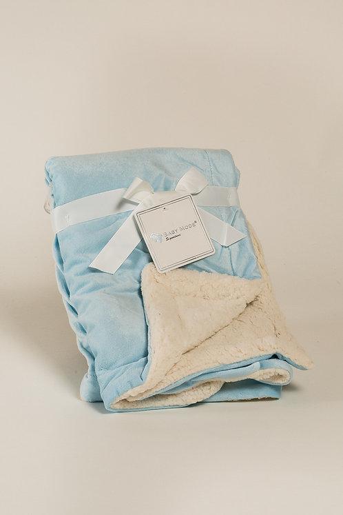 Mink Sherpa blue baby blanket