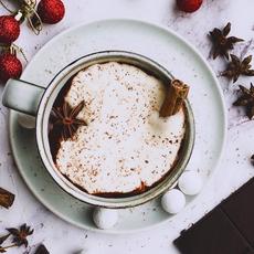 Vegan vanilla spiced hot chocolate ✨