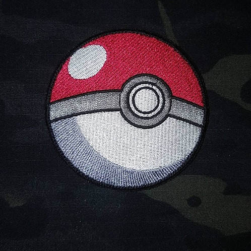 Pokemon Go- PokeBall Fully Embroidered Patch