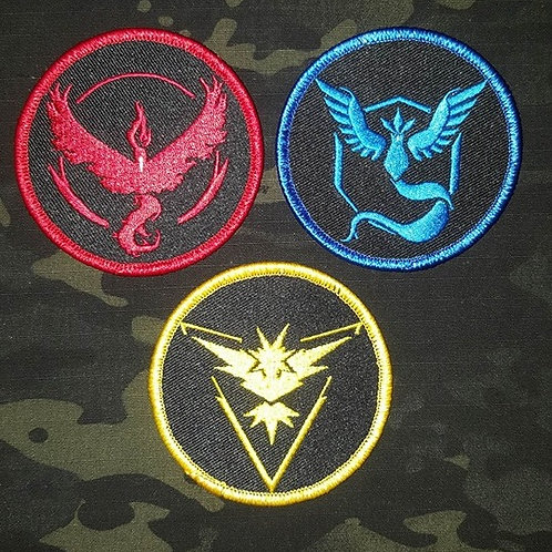 Pokemon Go- Team Emblem Embroidered Patch