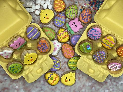 Mini Easter Cookies in Egg Carton
