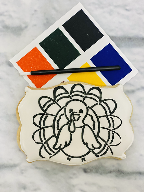 """Thanksgiving Turkey """"Paint Your Own Cookie"""""""