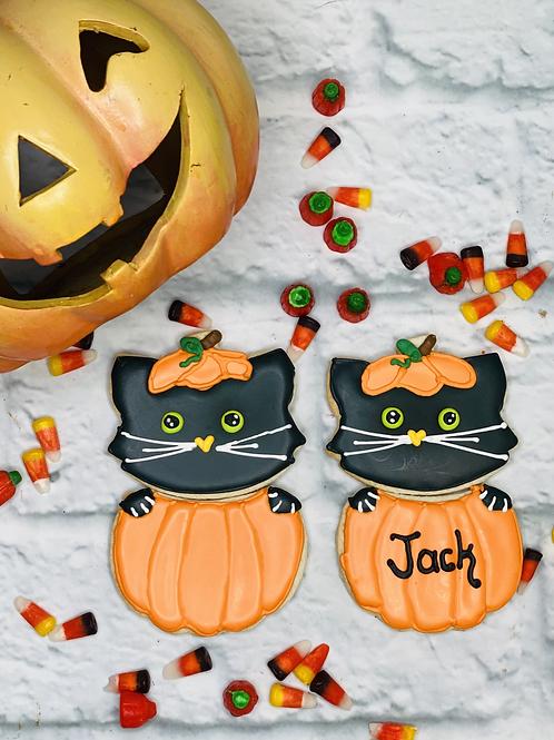 Pumpkin Kittie Set (Free Personalization)