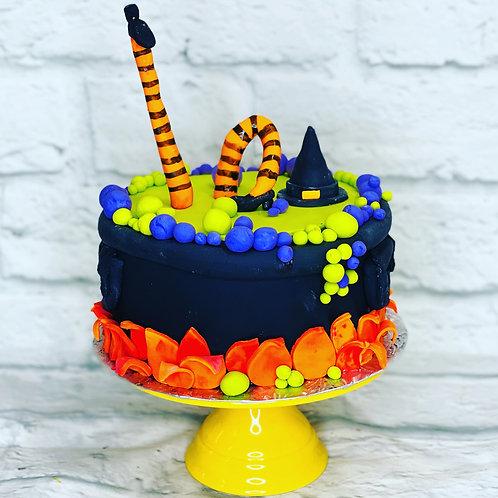 Witch's Brew Halloween Cake