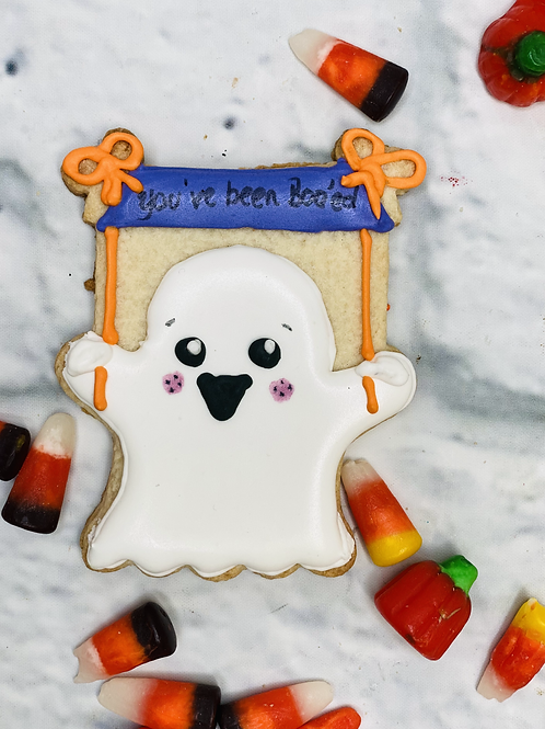 You've Been Boo'ed Ghost Cookie