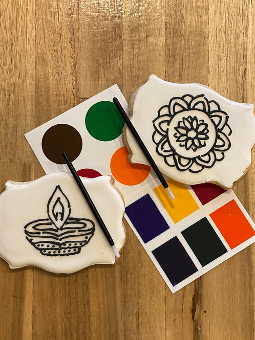 """Paint Your Own """"Diwali"""" Cookies"""