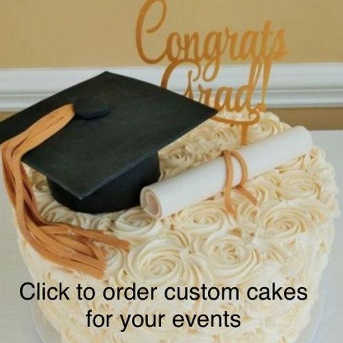 Custom Cake for Graduation