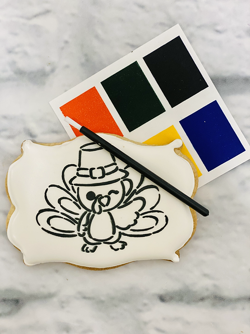 """Winking Turkey """"Paint Your Own Cookie"""""""