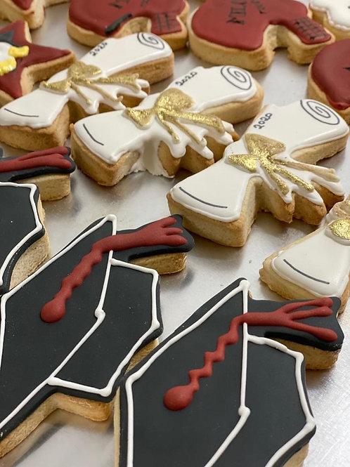 Box of 12 Graduation Cookies