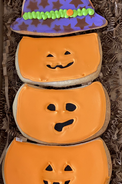 Stack of Witch Pumpkins