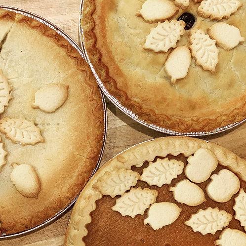 "Thanksgiving Pies (9""-10"")"