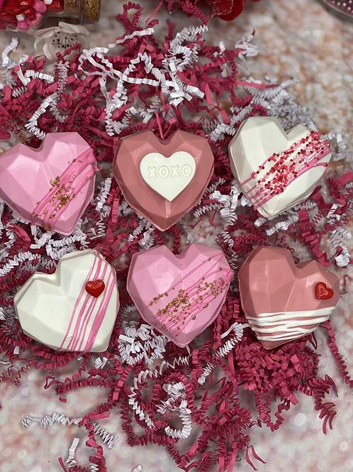 Six Heart Shape Hot Cocoa Bombs