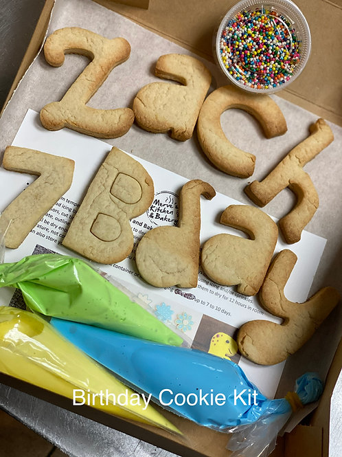 DIY Birthday Cookie Set