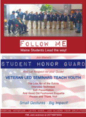 Maine Student Honor Guard welcomes Veterans