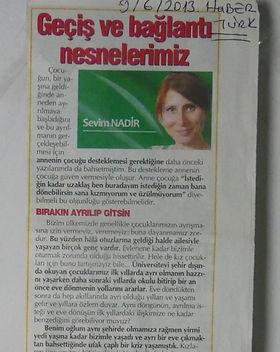 Sevim Nadir Köşe Yazısı Haber Türk