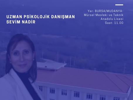 Ergenlik ve İletişim Semineri - Sevim Nadir - Bursa Mudanya Mürsel Mesleki ve Teknik Anadolu Lisesi