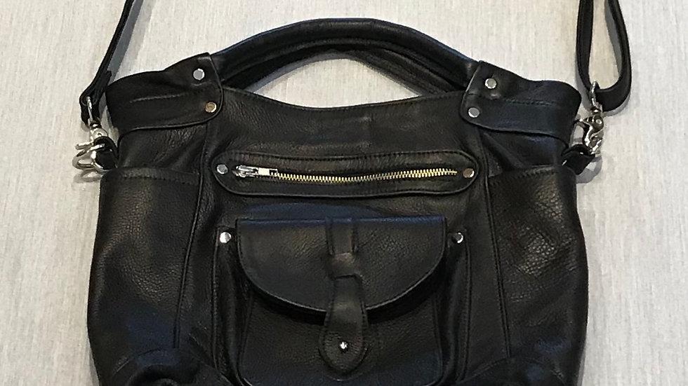 Leopard Sleek (Leather Handbag)