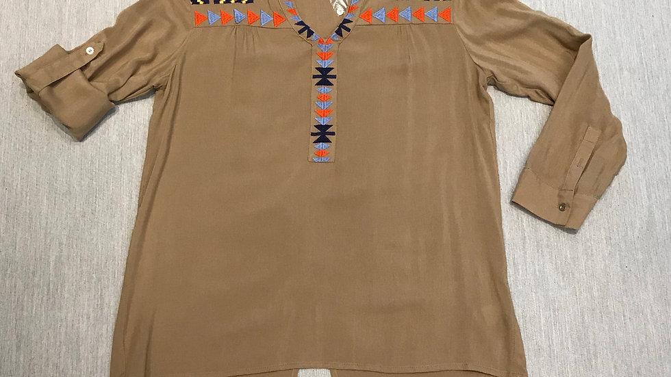 Khaki Colored Long Sleeve Shirt