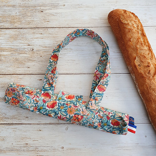 Sac à pain coton enduit fleurs