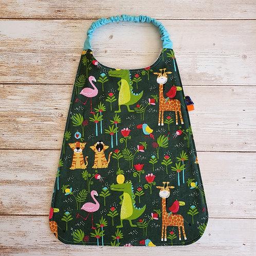 Serviette élastiquée personnalisable coton motifs animaux de la savane