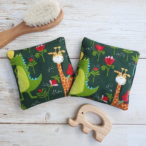Lot 2 mini-bouillottes tissu motif jungle