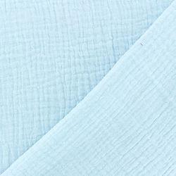 tissu-double-gaze-de-coton-uni-glacier-x