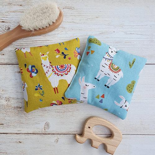 Lot 2 mini-bouillottes tissu motif lama