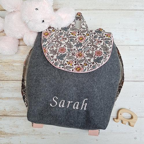 Sac à dos enfant, sac maternelle liberty Ispahan vieux rose