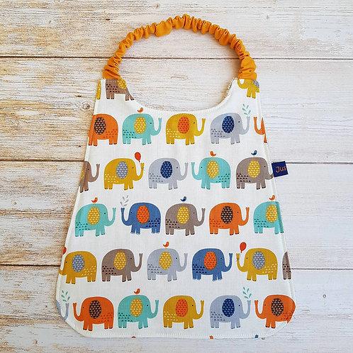 Serviette élastiquée personnalisable coton oeko-tex motifs éléphants